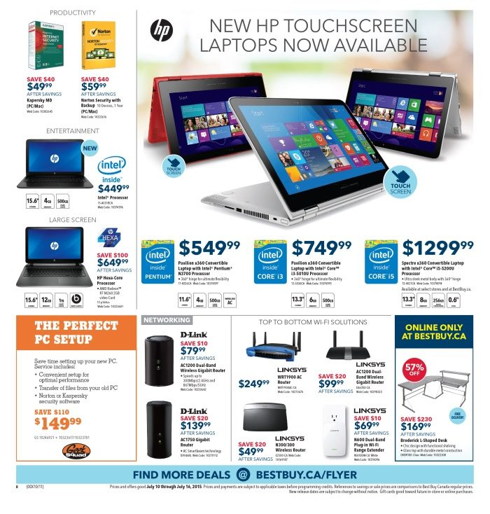 more photos f5493 56a67 Best Buy Weekly Flyer - Weekly - Gear Up for Travel and Good Times - Jul 10  – 16 - RedFlagDeals.com