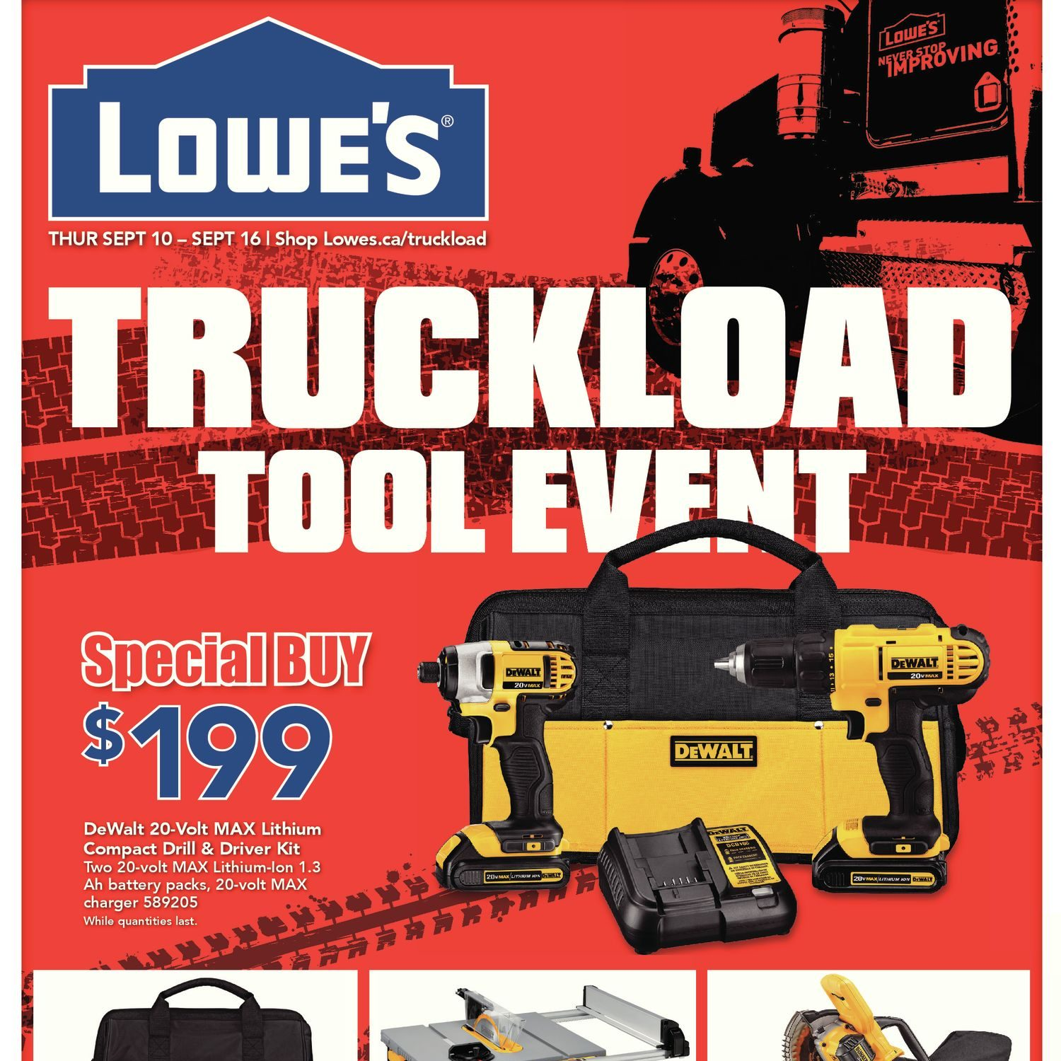 Lowes Weekly Flyer Truckload Tool Event Sep 10 16 4 Way Switch At