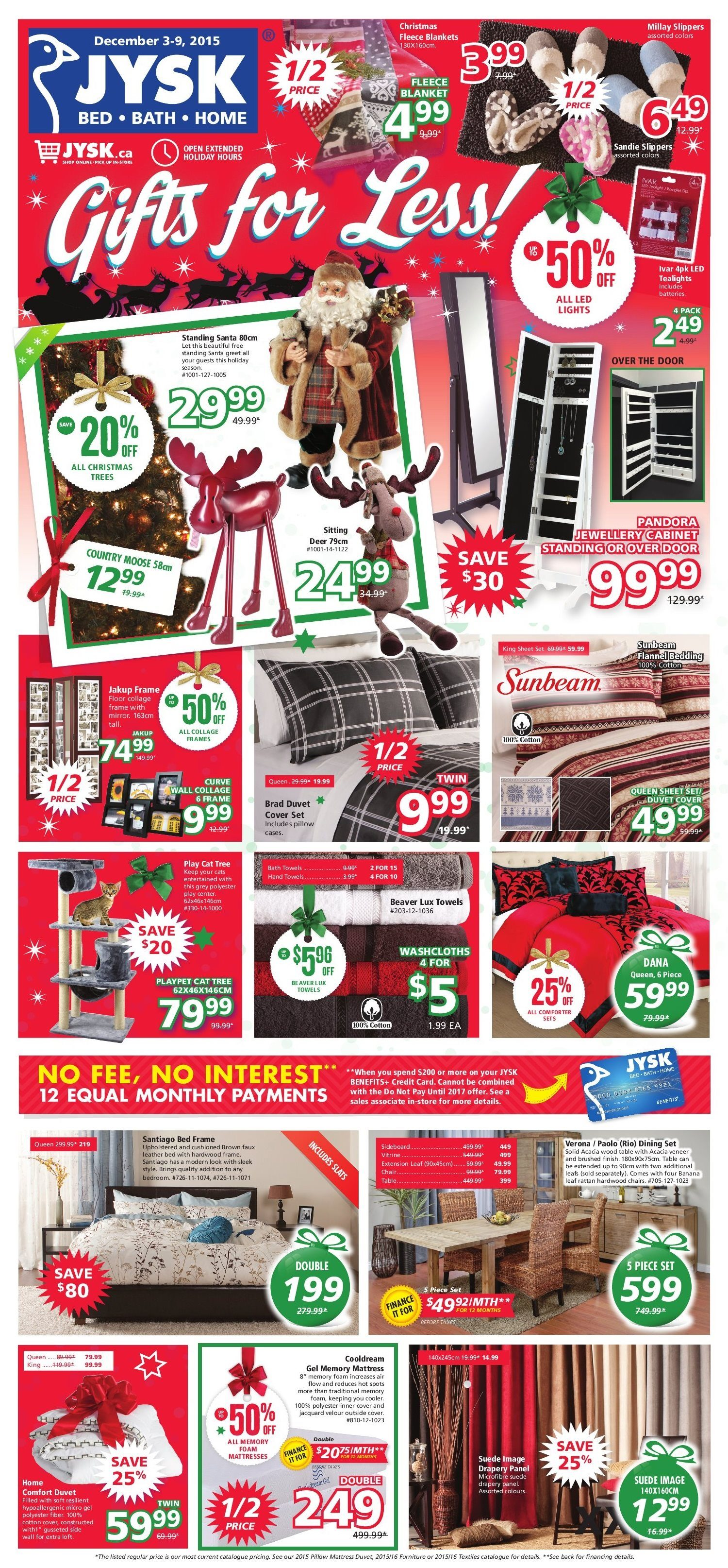 JYSK Weekly Flyer Weekly Gifts for Less Dec 3 – 9