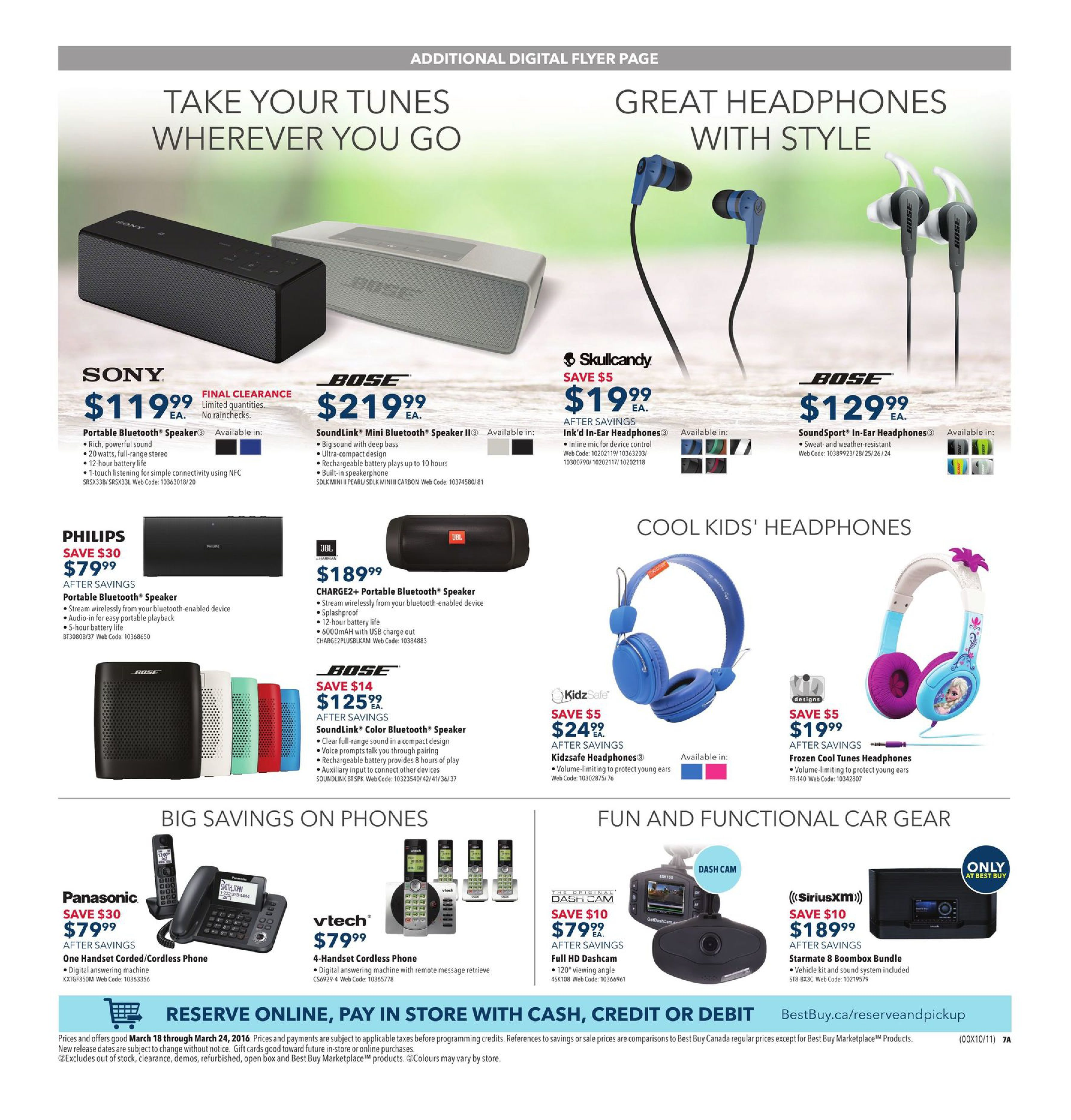 Best Buy Weekly Flyer Smart Spring Savings Mar 18 24 Paket Access Control Fingerprint X6 Door Lock