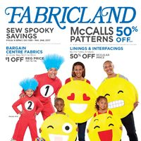 Fabricland - Sew Spooky Savings Flyer