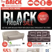 The Brick - Black Friday Sale Starts Now! Flyer