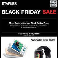 Staples - Black Friday 4-Day Deals Flyer