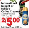 International Delight Or Bailey's Coffee Creamer