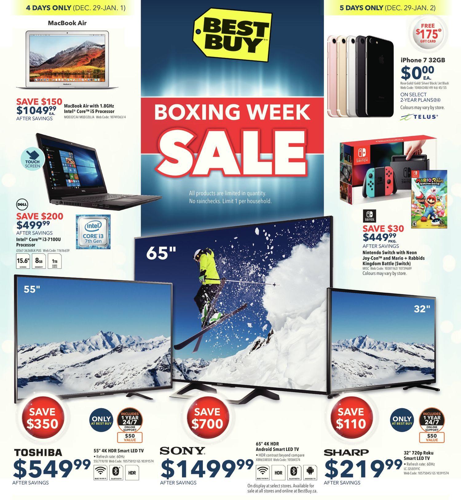 Best Buy Weekly Flyer - Weekly - Boxing Week Sale - Dec 29 – Jan 4 ...