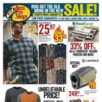 Bass Pro Shops - Ring Out the Old, Bring in the New Sale! Flyer