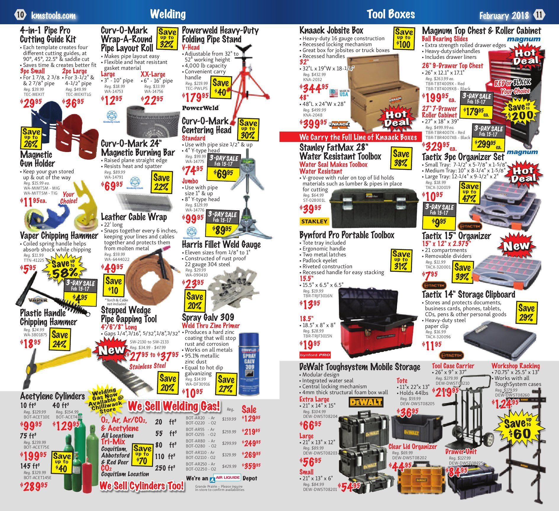 KMS Tools Weekly Flyer - Welding Sale - Feb 1 – 28 - RedFlagDeals.com