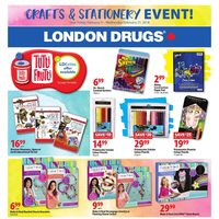 London Drugs - Crafts & Stationery Event! Flyer