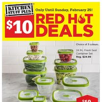Kitchen Stuff Plus - Red Hot Deals - $10 Deals Flyer