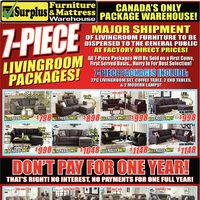 Surplus Furniture - 7-Pc. Living Room Packages! Flyer