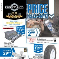 Princess Auto - Price Brake-Down Flyer