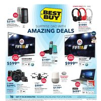 Best Buy - Weekly - Surprise Dad With Amazing Deals Flyer