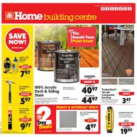 Home Hardware - Building Centre - The Beauti-Tone Paint Event Flyer