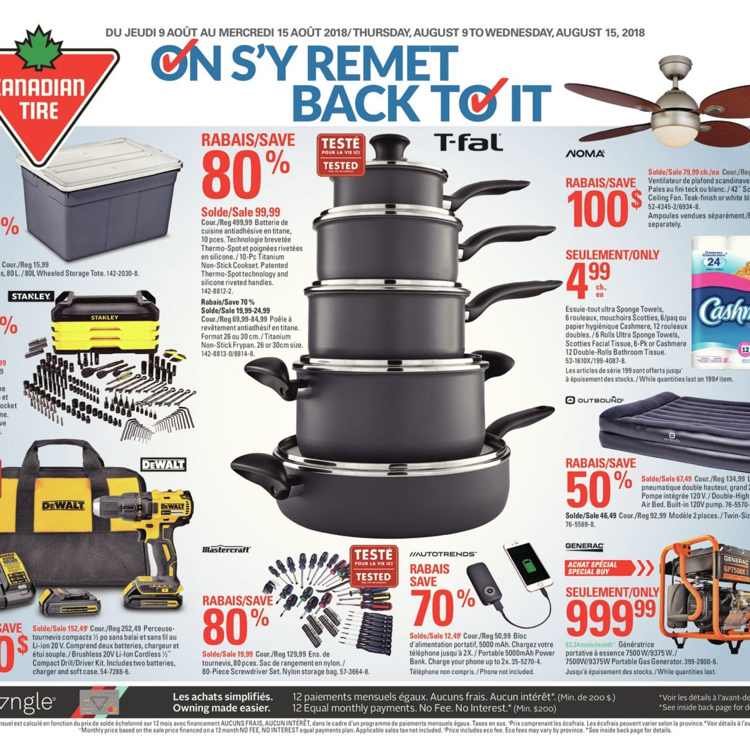 Canadian Tire Weekly Flyer Weekly Back To It Aug 9
