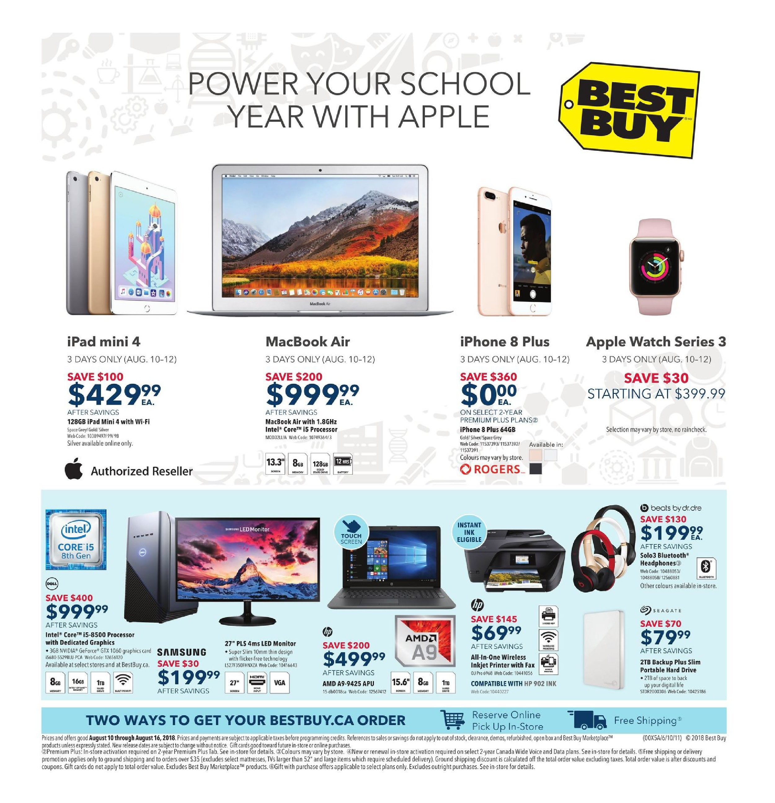 Best Buy Weekly Flyer Power Your School Year With Apple Circuit Induction Cooker Panasonic Mx 2 Protection Aug 10 16