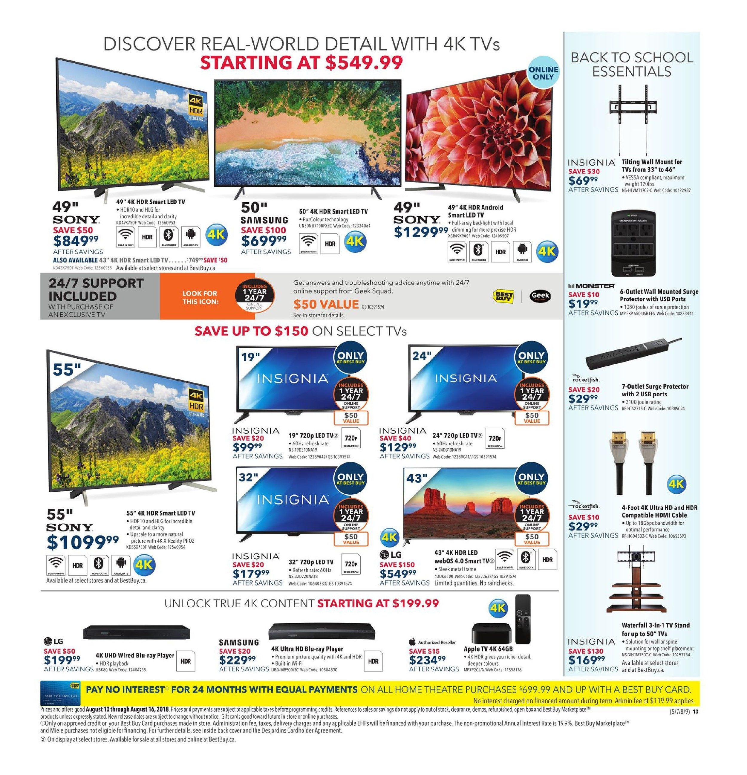 Best Buy Weekly Flyer Power Your School Year With Apple Electrical Service To Detached Garage Page 3 Teamtalk Aug 10 16