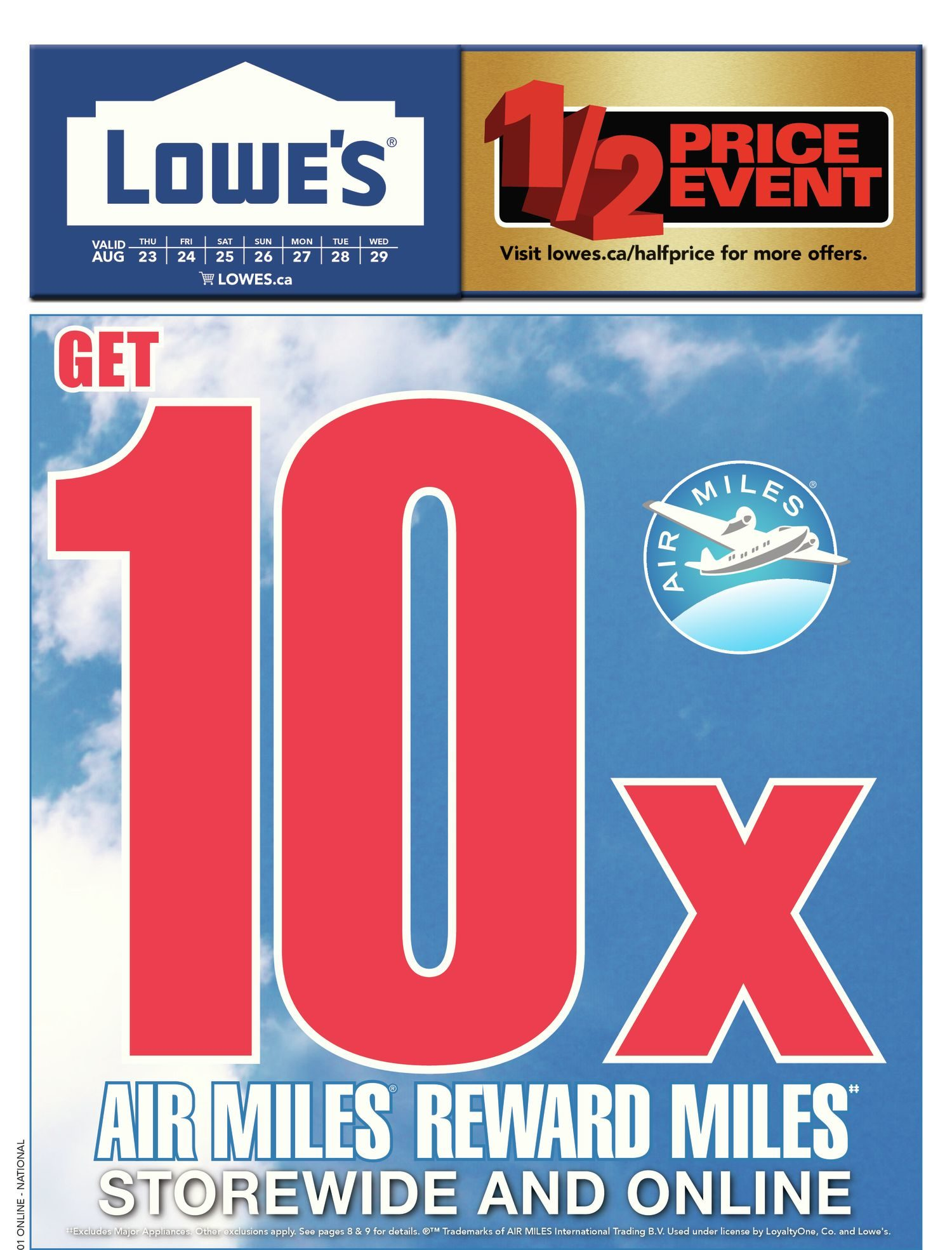 Lowe\'s Weekly Flyer - Weekly - 1/2 Price Event - Aug 23 – 29 ...