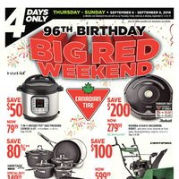 - 4 Days Only - 96th Anniversary Big Red Weekend Flyer