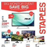 Staples - Weekly - Big Monitor Event Flyer