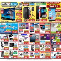 Factory Direct - Holiday Season Kickoff Sale! Flyer