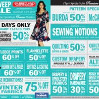 Fabricland - Members Only - Clean Sweep Sale Flyer