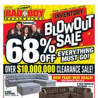 Bad Boy Furniture - Inventory Blowout Sale Flyer