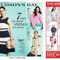 The Bay - 7 Days of Fresh Savings For Spring Flyer
