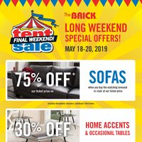 The Brick - Tent Sale - Final Weekend! Flyer