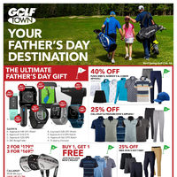 Golf Town - Your Father's Day Destination Flyer