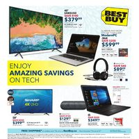 Best Buy - Weekly - Enjoy Amazing Savings on Tech Flyer