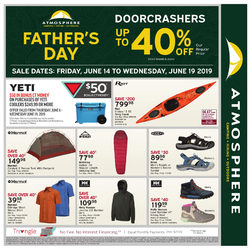 Atmosphere - Father's Day Sale Flyer
