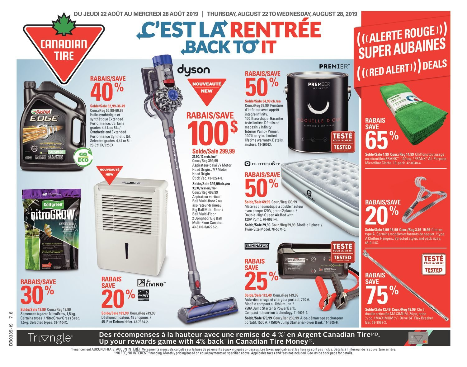 Canadian Tire Weekly Flyer Weekly Back To It Aug 22 28 Redflagdeals Com