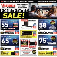 Visions Electronics - Weekly - Home Theatre Sale! Flyer