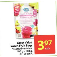 Great Value Fruit Bags