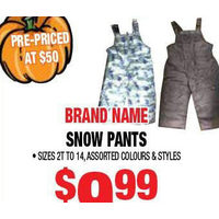 Brand Name Snow Pants