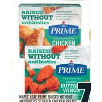 Maple Leaf Prime Raised Without Antibiotics Stuffed Chicken Breast, Breaded Chicken Or Chicken Wings