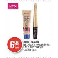 Rimmel London  Bb Cream Or Wonder'swipe Liner to Eyeshadow