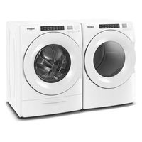 Whirlpool 5.2 Cu.Ft. H.E. Steam Washer, 7.4 Cu.Ft. Gas Dryer Steam Laundry Pair