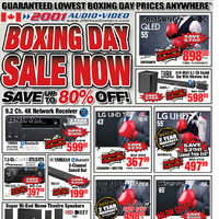 2001 Audio Video - Weekly - Boxing Day Sale Now Flyer