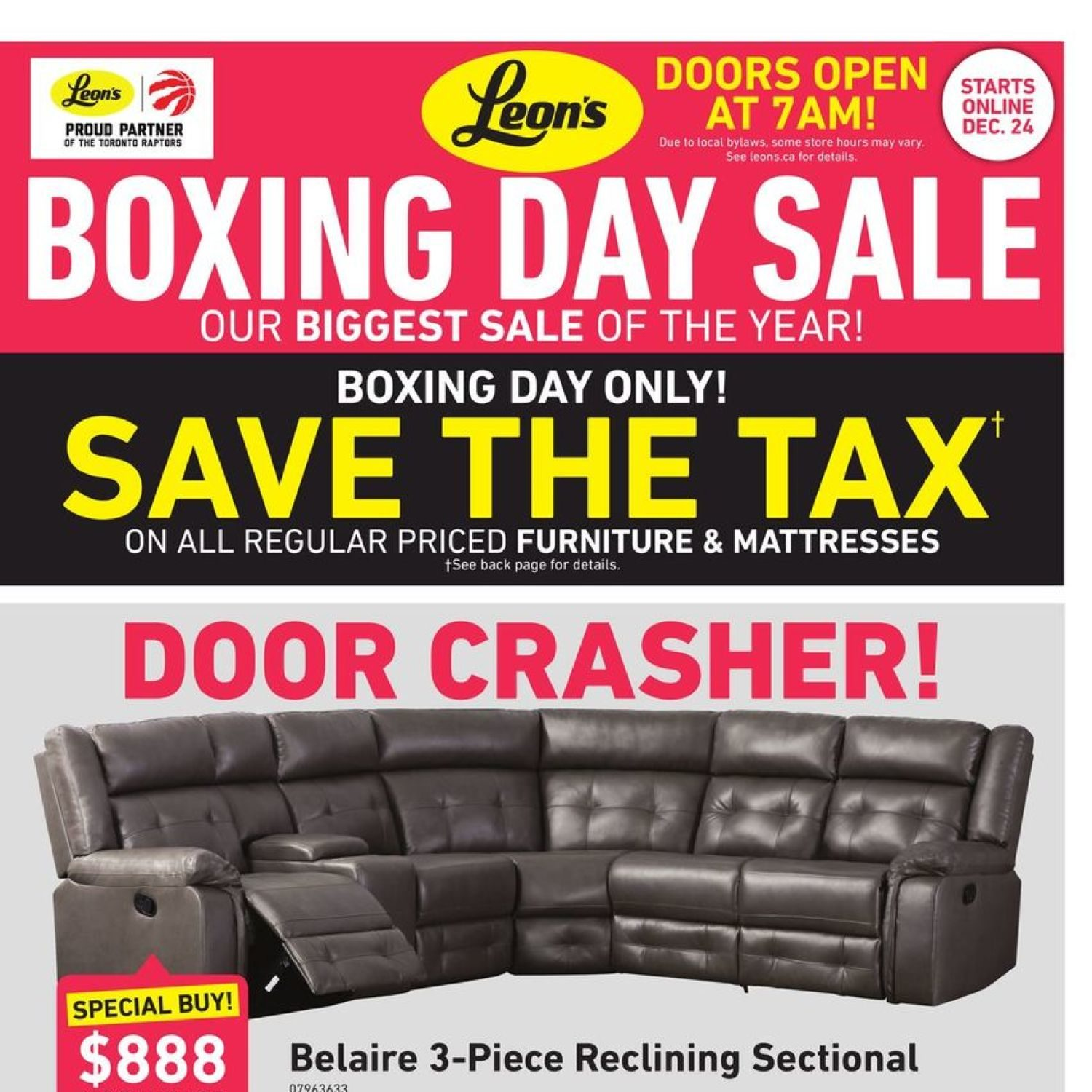 Leon S Weekly Flyer Boxing Day Sale Dec 24 31 Redflagdeals Com