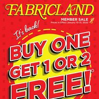 Fabricland - Member Sale - Stock Up & Save! Flyer