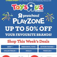 - 2 Week Event! - Preschool Playzone Flyer
