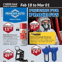 Princess Auto - Prepare For Projects Flyer