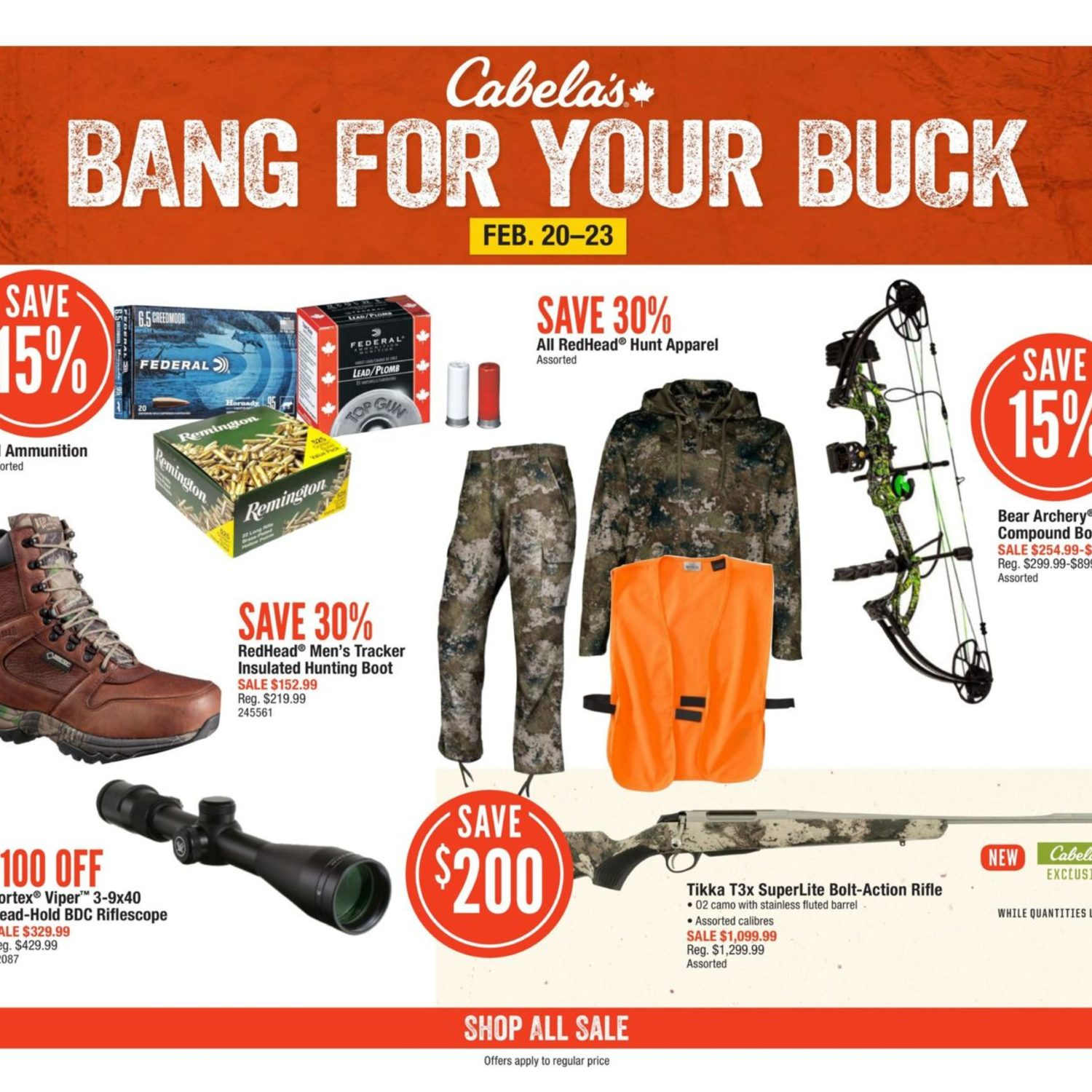 Cabelas Weekly Flyer Bang For Your Buck Feb 20 23 Redflagdeals Com