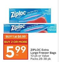 Ziploc Extra Large Freezer Bags Or Value Packs