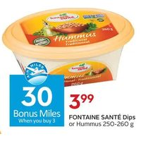 Fontaine Sante Dips Or Hummus
