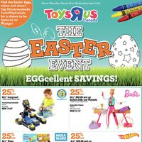 Toys R Us - The Easter Event Eggcellent Savings! Flyer