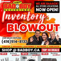 Bad Boy Furniture - Inventory Blowout Flyer