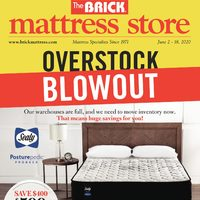 The Brick - Mattress Store - Overstock Blowout Flyer