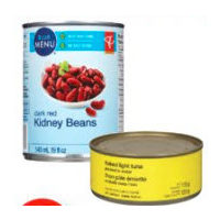 Pc Blue Menu Canned Beans, No Name Tuna or Canned Vegetables